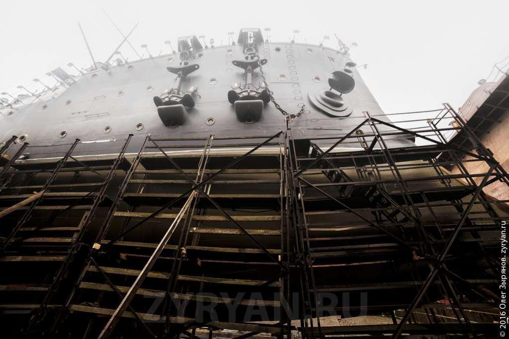 Крейсер Аврора в Кронштадтском морском заводе
