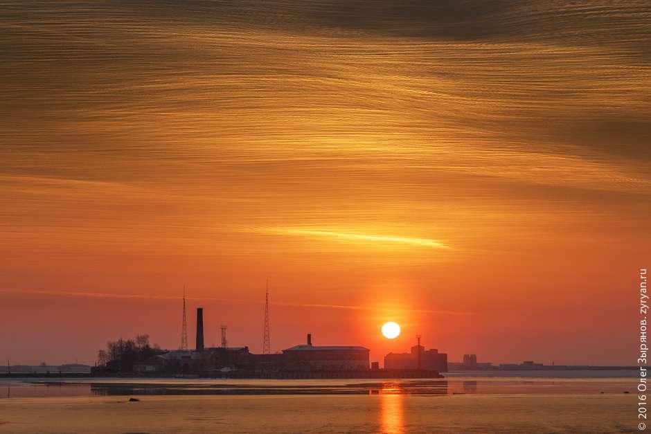 Закат в Кронштадте