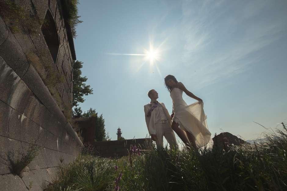 Свадебная фотосессия на фортах Кронштадта
