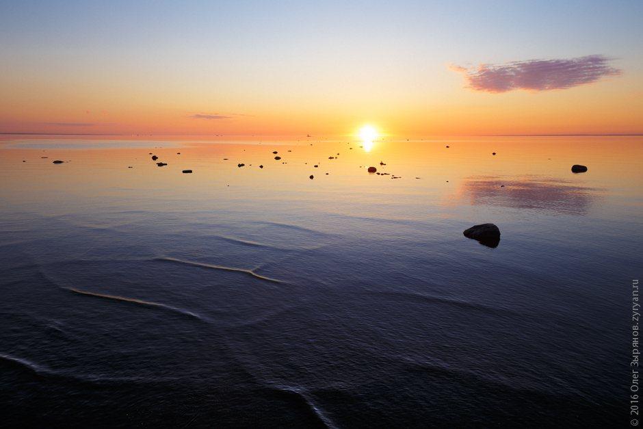 Закат. Форт Риф